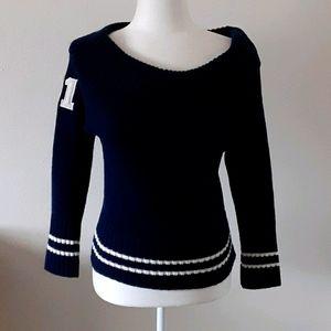 Vintage Delia's Varsity Sweater Navy Size M